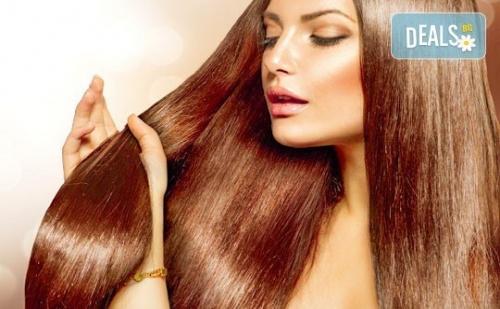 'Полиране' на коса, терапия според типа и състоянието й и подстригване и подсушаване в салон Женско царство!