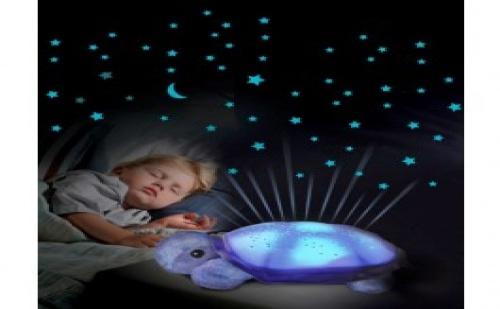 Голяма Музикална Детска Нощна Лампа Костенурка