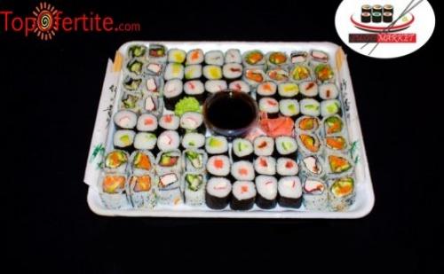 Суши сет от 70 уникално вкусни хапки от Суши Маркет
