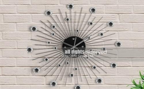 Стенен Часовник с Метал и Кристали