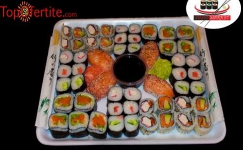 Суши сет от 54 уникално вкусни хапки от Суши Маркет