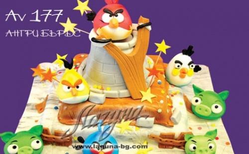 Светът е 3D, рожденият ден на детето ви също с 3D детска торта на 3 етажа със захарни фигурки от от Виенски салон Лагуна с безплатна кутия + поздравителен надпис + свещичка,  ...