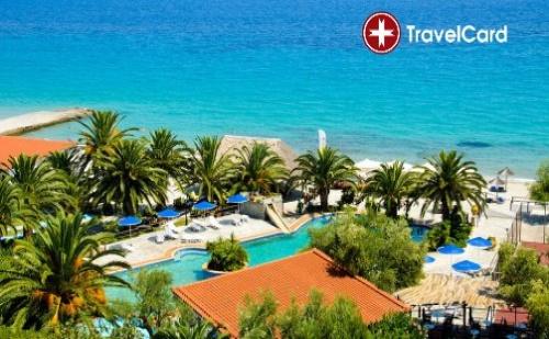 Нощувка за двама плюс дете с ALL Inclusive изхранване на първа линия в хотел Менди**** (Mendi****) , Халкидики, Гърция