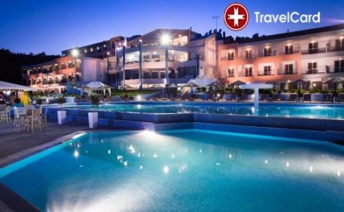3 нощувки за двама или трима възрастни плюс дете в двойна стая с включени закуски, вечери и Гала вечеря в хотел Блу Дрийм Палас**** (Blue Dream Palace 4*), Тасос, Гърция