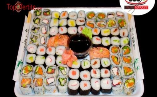 Суши сет от 72 уникално вкусни хапки от Суши Маркет