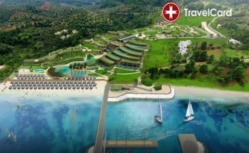 Пакет нощувки за двама възрастни плюс дете до 12г. в двойна стая с включени закуски на първа линия в хотел Miraggio Thermal Spa Resort*****, Касандра, Гърция