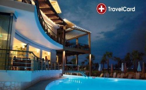 Пакет нощувки за двама или трима възрастни плюс дете с включени закуски и вечери и ползване на СПА на 200 метра от плажа в хотел Космополитан****, (Cosmopolitan Hotel&Spa 4*) Катерини,  ...