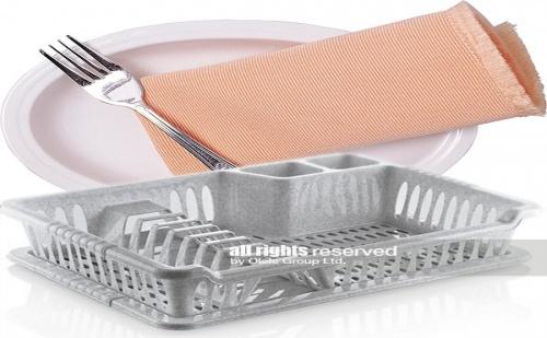 Пластмасов компактен сушилник за чинии