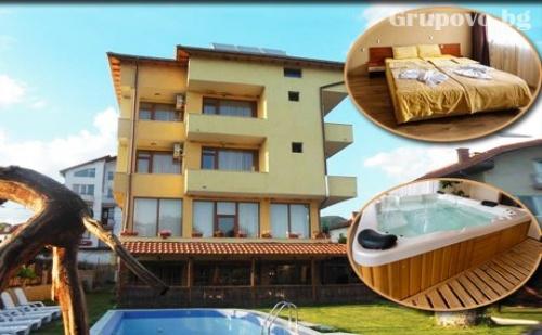 Нощувка, закуска и вечеря + басейн, сауна и джакузи с минерална вода в хотел Шарков, Огняново
