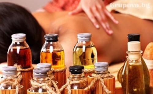 Лечебен масаж на гръб с топли масла 30 мин. от салон Лаура Стайл, София