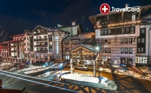 Пакет нощувки за двама възрастни плюс до две деца до 12 г. с включени закуски и ползване на вътрешен басейн в хотел Лион****, к.к. Банско