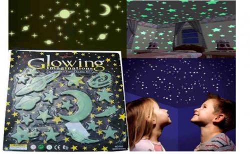 Комплект фосфоресциращи звезди и планети