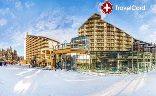 Нощувка за двама възрастни плюс дете до 12 г. с включени закуски, вечери и ползване на басейн на ски пистите в хотел Рила**** в Боровец