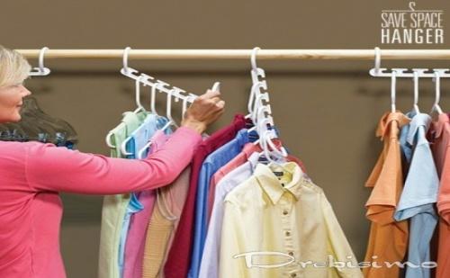 8 бр. вертикални мулти закачалки за дрехи