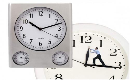 3 в 1 Стенен часовник с барометър и термометър