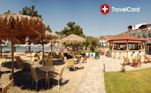 1 нощувка за двама или трима възрастни плюс дете до 13 г. на база ALL Inclusive на първа линия в хотел Рачони Бей*** (Rachoni Bay***), Тасос, Гърция