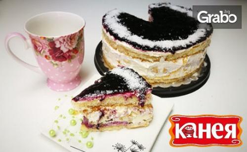 Еклерова торта 8-10 парчета - без или със боровинки