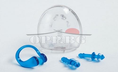 Плувай комфортно! Комплект тапи за уши и щипка за нос Intex