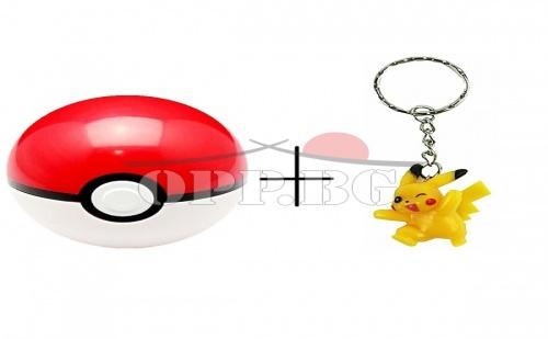 Топка Pokemon GO с ключодържател Пикачу