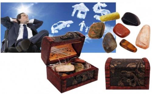 Комплект полускъпоценни камъни в сандъче