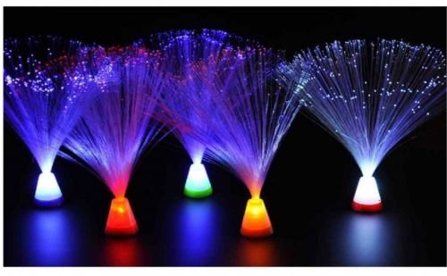 Фибро оптична декоративна лампа