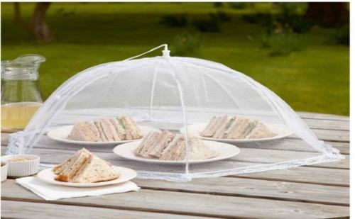 Сгъваемо покривало - чадър за храна