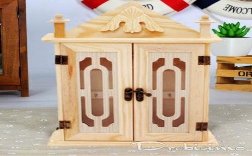 Кутия за ключове с 2 вратички от дърво