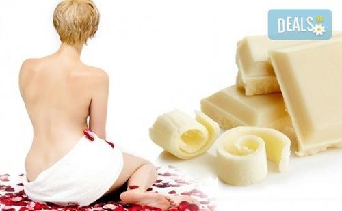 Шоколадова нирвана! Масаж на цяло тяло с бял шоколад и точков масаж на глава, ръце и длани в Спа център Senses Massage & Recreation