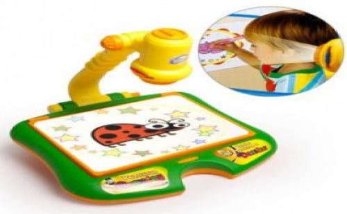 Детска дъска проектор за рисуване. Развива въображението и рисувателните умения на Вашето дете!