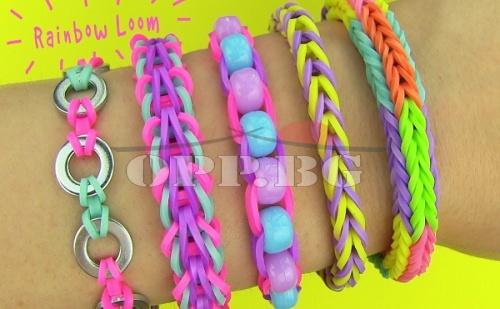 Уникални Цветни Бижута с Loom Bands + Стан + 600 Ластички