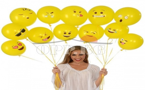10 Броя Балони Емотикони