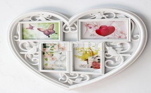 Винтидж Рамка за Снимки Сърце