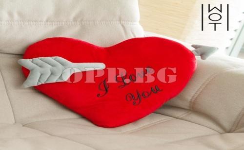 Възглавница Сърце със Стрела I Love You Wagon Trend (35 См)