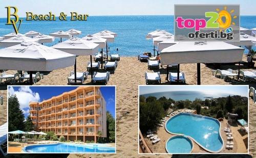 Нощувка с All Inclusive + Басейн + Частен плаж и Лифт до плажа + Чадър и шезлонг в хотел Бона Вита, Златни Пясъци, от 34.90 лв.! Безплатно за дете до 12 год.