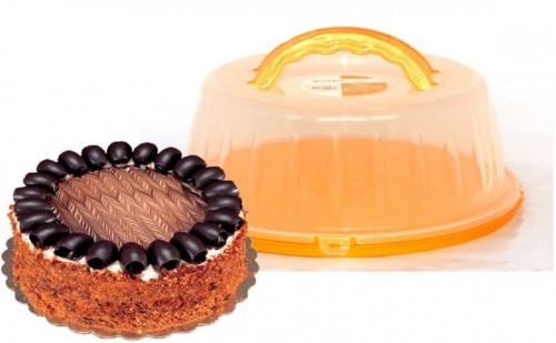 Кутия за Торта с Капак и Дръжки