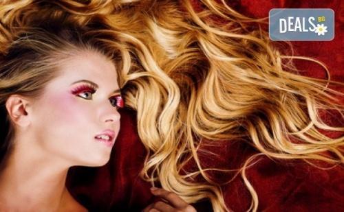 Модерна Визия! Омбре Прическа с Италиански Бои При Професионален Стилист на Салон за Красота Blush Beauty!