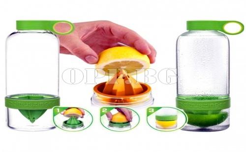Citrus Zinger - Сокоизтисквачка, Бутилка и Чаша 3 в 1