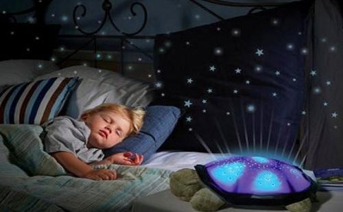 Музикална Нощна Лампа Прожектира Звездното Небе