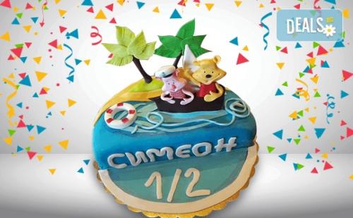 Радост У Дома! Детска Фигурална Торта 1/2 за Бебета на Шест Месеца и Сладки Моменти в Семейството от Сладкарница Джорджо Джани!