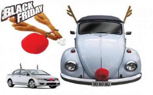 Коледни Еленски Рога и Нос за Автомобил !