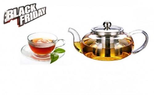 Стъклен Чайник за Запарка с Инфузер