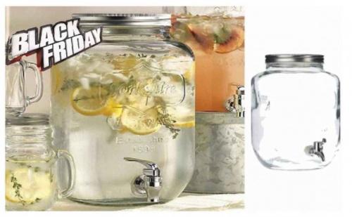 Стъклен Диспенсер за Напитки - Буркан 4 Литра