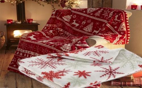 Супер меко коледно одеяло