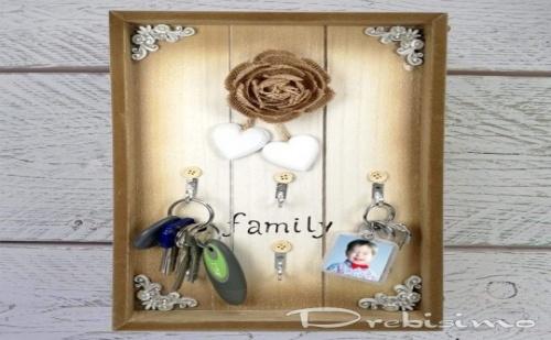 Поставка за Ключове с Надпис Family
