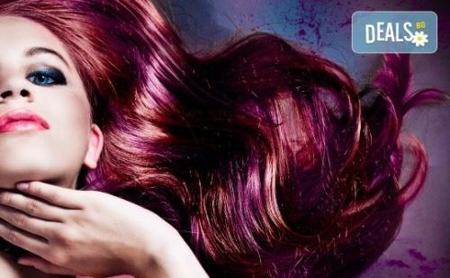 Подстригване, Боядисване с Боя на Клиента и Прическа със Сешоар, в Салон за Красота визия и Стил, Пловдив!