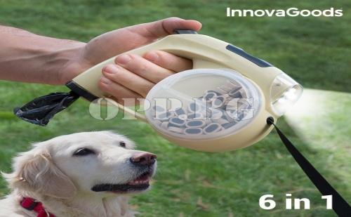 Прибираща се Каишка за Кучета 6 в 1 Innovagoods