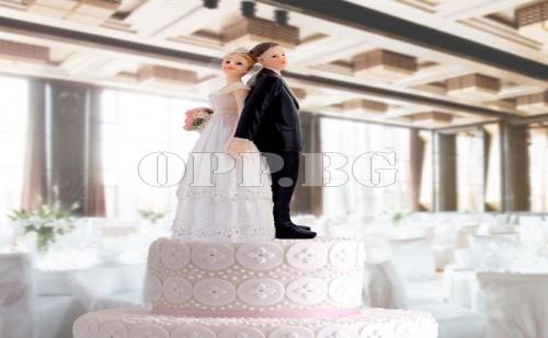 Фигурки за Сватбена Торта Булка и Младоженец