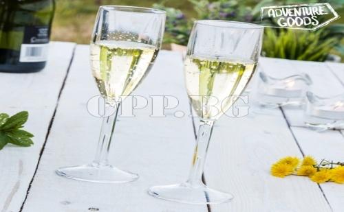 Нечупливи Чаши за Шампанско Adventure Goods (2 Броя)