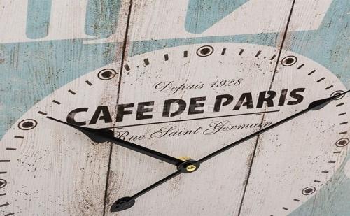 Френски Стенен Часовник Vintage Coconut