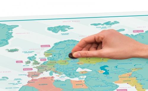 """Скреч Карта на Света """"Hello"""""""